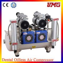 2 * 850W Power Dental Oilless Air Compressor