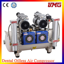 Compressor de ar de Oilless dental do poder de 2 * 850W