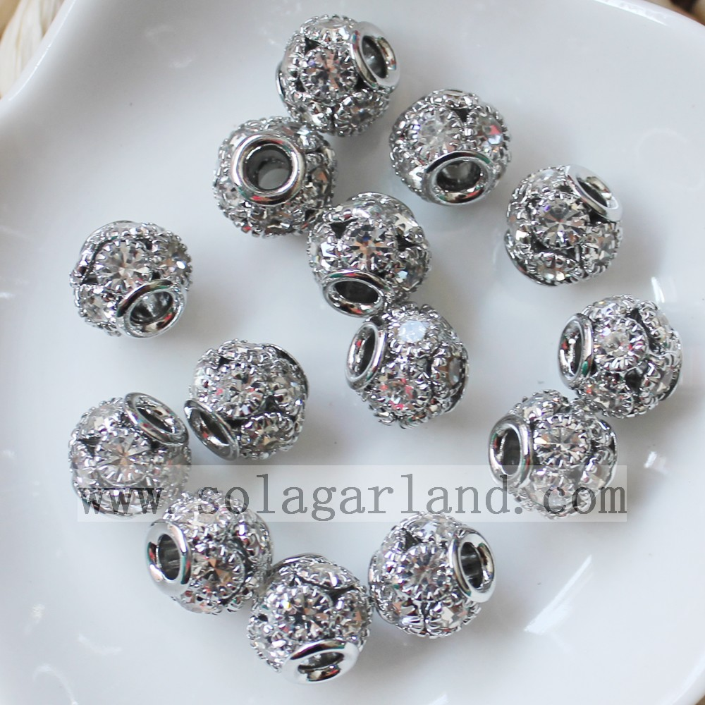 European Metal Rhinestone Beads