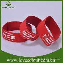 Vente en gros Bijoux en polyester à bas prix Bandes de poignet en tissu / Custom Logo Bracelets élastiques