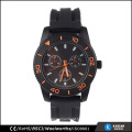 waterproof watch silicone black watch men