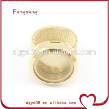 Anillo de dedo flotante del acero inoxidable del medallón de la venta caliente, joyería de los anillos para las mujeres