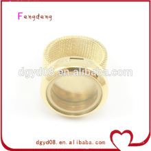 Hot sale floating locket stainless steel finger ring,rings jewelry for women