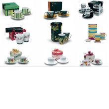 Фарфоровая кофейная чашка и блюдце для BS120801A