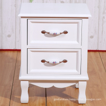 Modern Bedroom Cabinet White Wooden Bed Side Table Night Stand with 2 Drawers