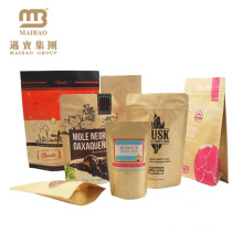 Гуанчжоу Maibao Влагостойкие Качества Еды Изготовленные На Заказ Дизайн Крафт Бумажные Пакеты Для Муки, Упаковка 1 Кг