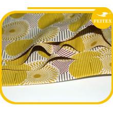 Tela de cera africana de alta calidad al por mayor 6 yardas cada pieza encerada tela impresa en stock