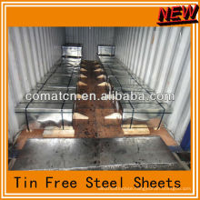 Tin free steel sheets for crown caps from CHina