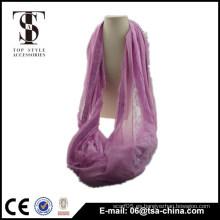Nueva bufanda viscosa del abrigo del infinito del lazo del cordón de las mujeres