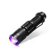 1W escorpión de caza de la batería AA mini linterna ultravioleta linterna LED
