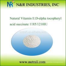 Vitamina E natural: Succinato de ácido D-alfa tocoferílico 1185IU / 1210IU