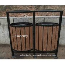 Hochwertige Holz Kunststoff Composite WPC Mülleimer