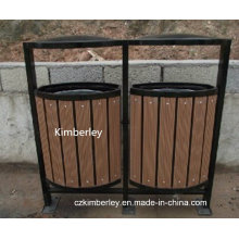 High Quality Wood Plastic Composite WPC Trash Can