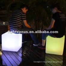 Matériel de PE, cube coloré de LED