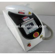 Eliminación de tatuajes nd yag máquina de eliminación de pelo láser portátil
