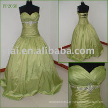 Elegante vestido de festa de seda elegante de tafetá real PP2068
