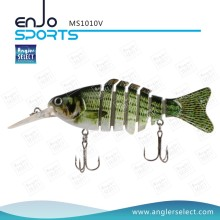 Angler Select Multi-Section Fishing Life-Like Lure Bass Bait Swimbait Shallow Fishing Gear Fishing Lures (MS1010V)
