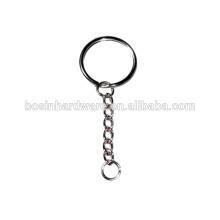 Moda de alta qualidade de metal 25 milímetros anel dividido com 6 Link Chain