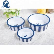 Großhandel Custom Logo glasiert Aufkleber Pet Food Bowl Keramik Dog Bowl