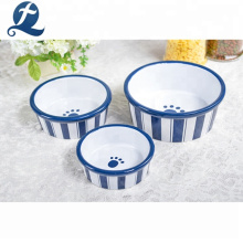 Wholesale Custom Logo Glazed Decal Pet Food Bowl Ceramic Dog Bowl