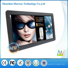 16:9 resolution 1366x768 HD 15.6 inch FCC/ROHS/CE digital photo frame with MP4