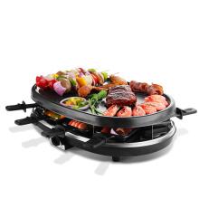 Hausgebrauch Electric Covered BBQ Maker mit runder Form