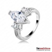 Os anéis austríacos do cristal da placa da platina da forma 18k superior (RIC0001-B)