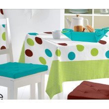 Plaid Style PVC Material Printed Plastic Tablecloth