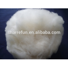 Chine Fabricant dehaired Naturel blanc laine d'agneau chinoise 17.5mic / 32mm