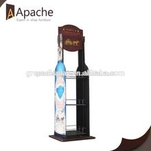 Good service hang cardboard display stand with shelf