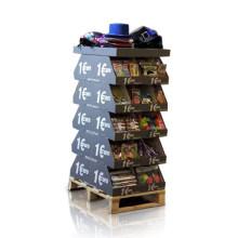 Doppelseiten Karton Display Dumpbins für Convenience Waren