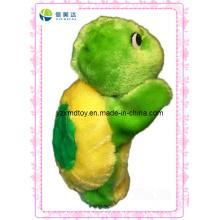 Lustige Plüsch-grüne Schildkröte-Marionette für Kinderspielzeug-Lieferant