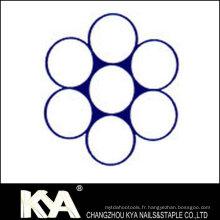 (1X7) Cordon en acier inoxydable pour débrochage, levage, dessin