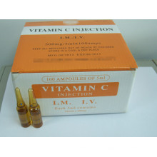 Vitamine C certifiée GMP pour injection injectable / vitamine C