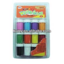 Set de peinture à l'eau non toxique 12 couleurs assorties 20ML