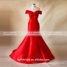 MB16001 Special Occasion Dresses 2016 Red Wedding Dress Short Sleeves Wedding Dress/Evening Gown Vendors