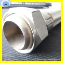 Металлический гибкий шланг с оплеткой из нержавеющей стальной проволоки на поверхности кольцевого шланга