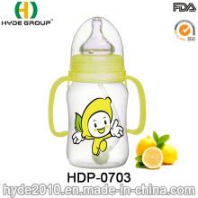 Botella plástica de la alimentación del bebé de 240ml PP BPA (HDP-0703)