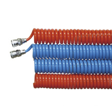 pneumatic tube PU spiral tube with coupler