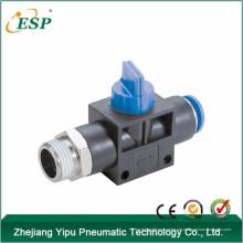 Zhejiang esp pneumatische gerade Gewindeanschluss Handnippelventil