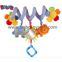 Blauer Elefant Plüsch Säuglingsbett Hängende Spielzeuge Gefüllte Kinder Kinderwagen Tiere mit Spieluhr