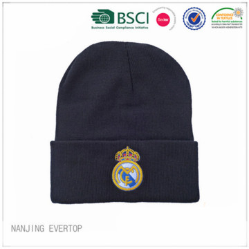 Custom Real Madrid Embroidery Football Fan Toque