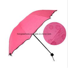 Der Regen Blumen-Vinyl-Regenschirm