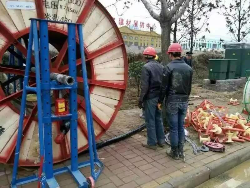 application of cable reel stand