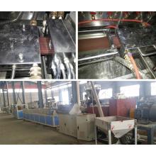 Máquina extrusora de fabricación de extrusión de placa WPC con certificación CE