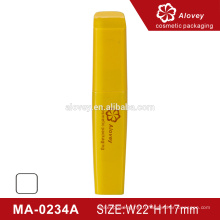 Fashion style yellow empty container mascara eyelashes bottle