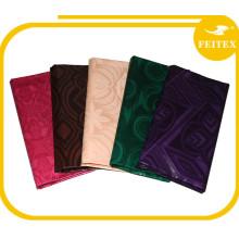 Chine textiles de maison en gros vêtements africains tissu pour femmes coton shadda brocart