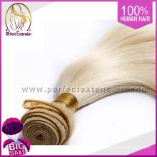 Verkaufe Websit Blond Natural lange russische Remy Haarverlängerungen Distributoren