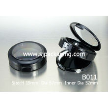 black loose powder compact case