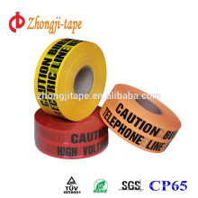 good break strength non detectable underground warning tape
